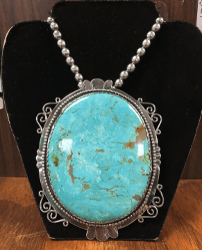 "Sterling Silver and Turquoise ""Necklace"" Made by Gary"