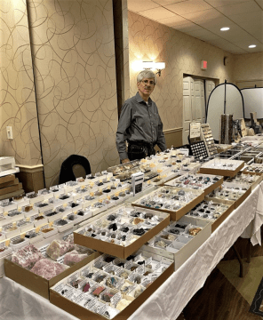 Gayr's set up at a Mineral Show