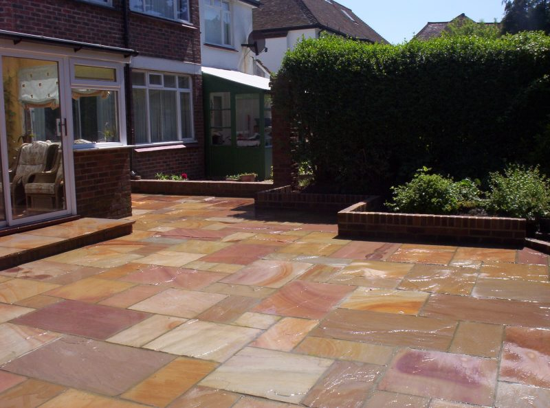 Indian Stone Patio by Gary Simes in East Sussex