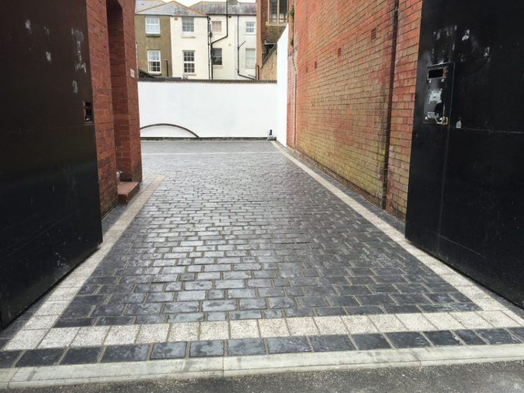 Marshalls driveways paving system for Commercial customer, carried out by Gary Simes in East Sussex
