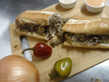 Garysteaks Cheesesteak Sandwich - Food Truck Catering