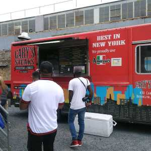 Food Truck Catering Barbershopconnect in the Knockdown center Brooklyn
