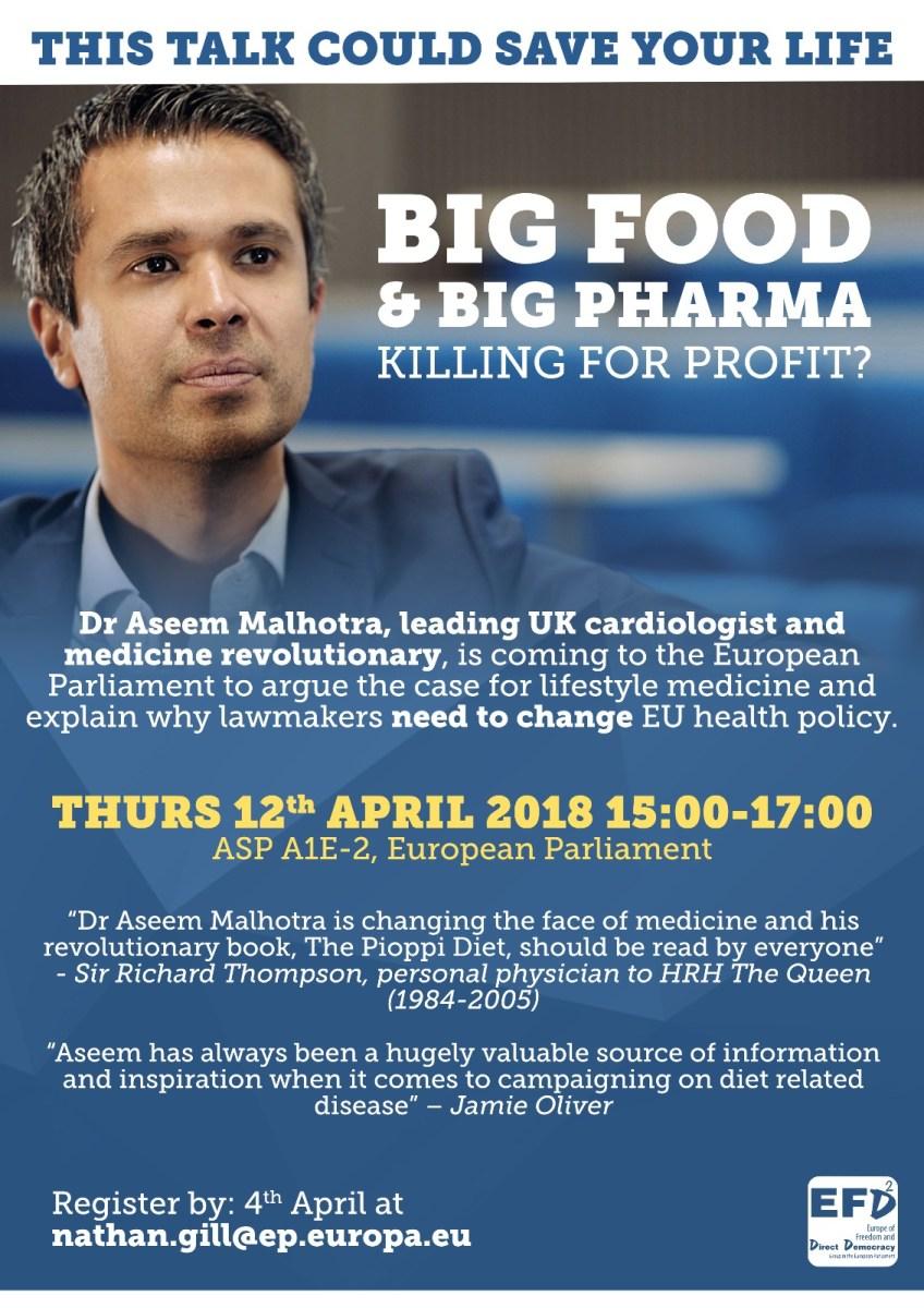 Big Food and Pharma. Killing for Profit?