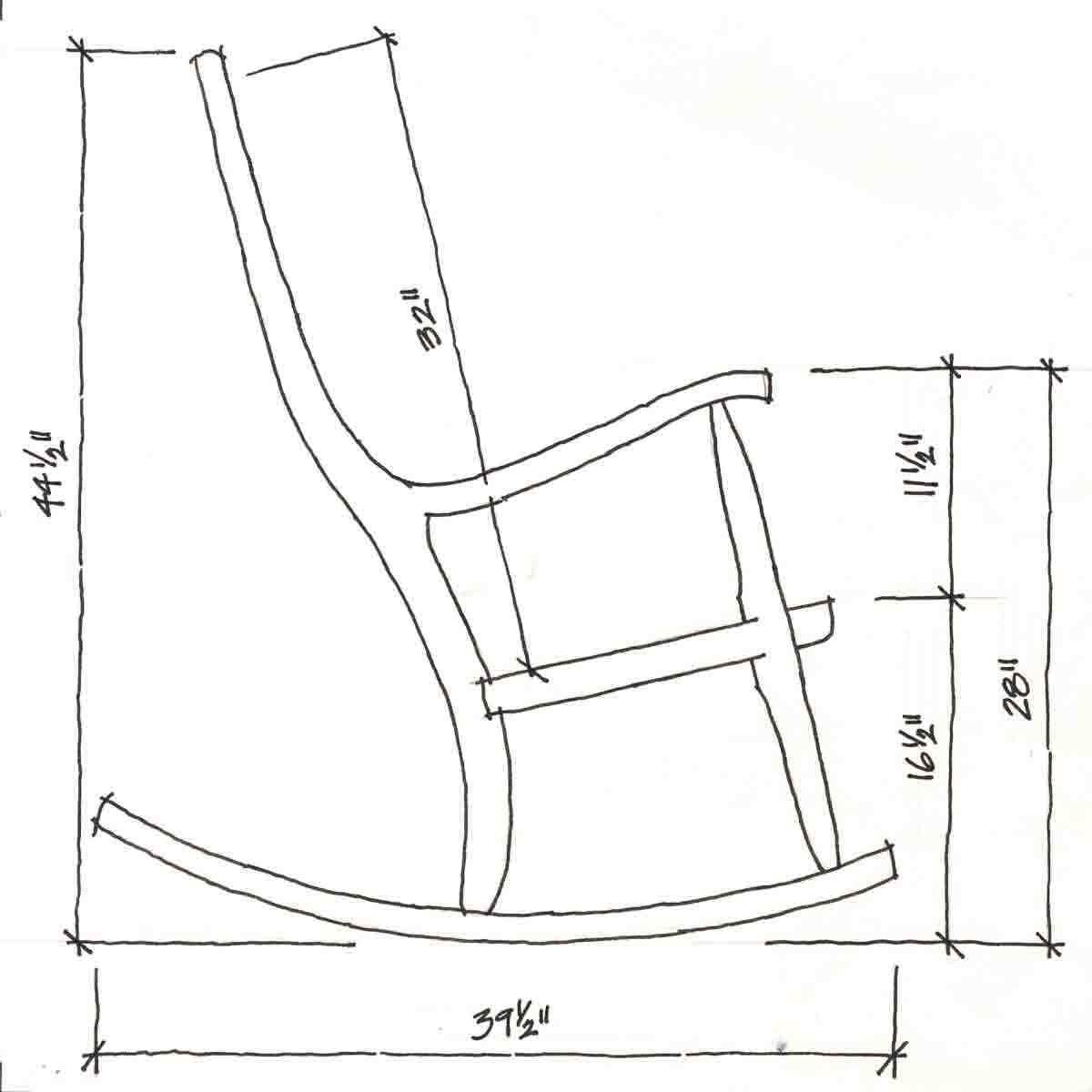 Rocker Chair Dimensions