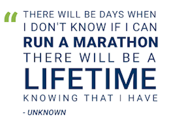 running a marathon saved my life