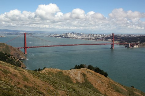 The Golden Gate from the Marin Headlands