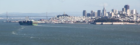 San Francisco by the bay panorama
