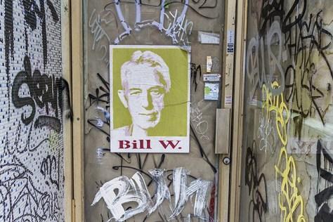Bill W poster in alcove