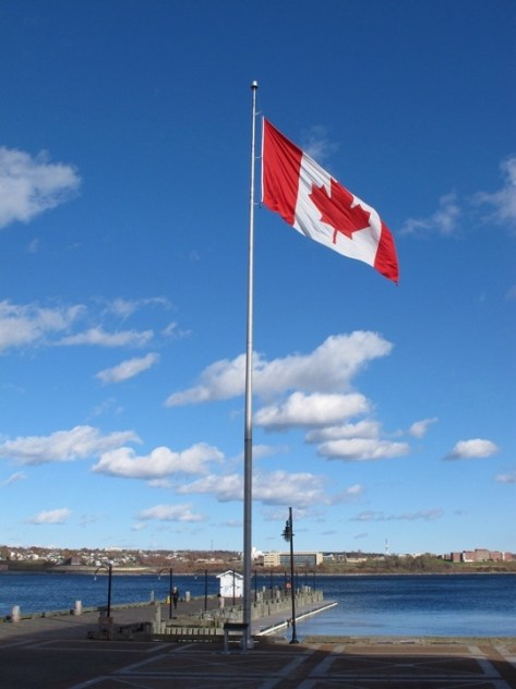 Chebucto harbor, Canadian flag