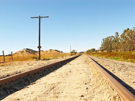 Train tracks near dump