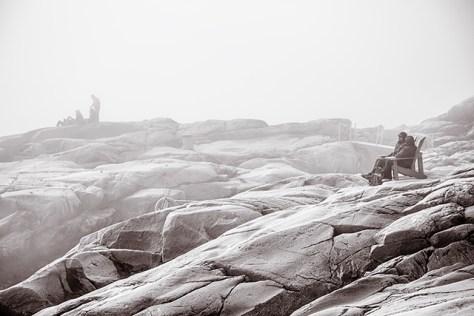 Cap-de-Bon-Désir, Québec in the fog