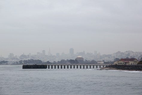 San Francisco during a January rain storm