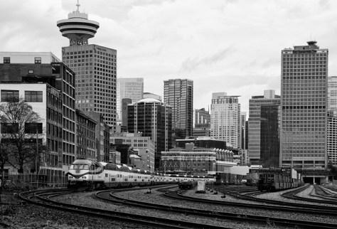 Vancouver city view from the tracks