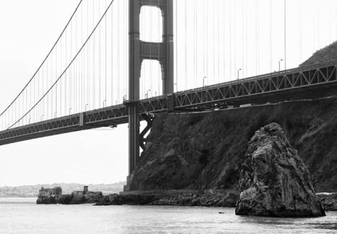 Golden Gate Bridge vantage from Fort Baker