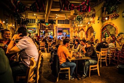 Mi Pueblo Mexican food restaurant interior HDRed