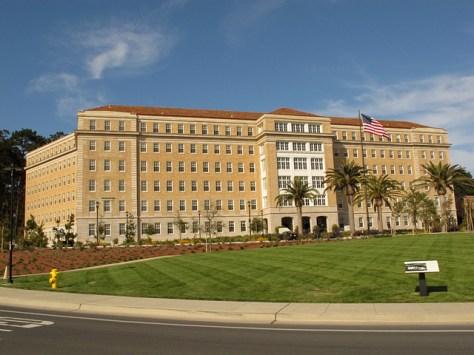 Surreal Presidio building