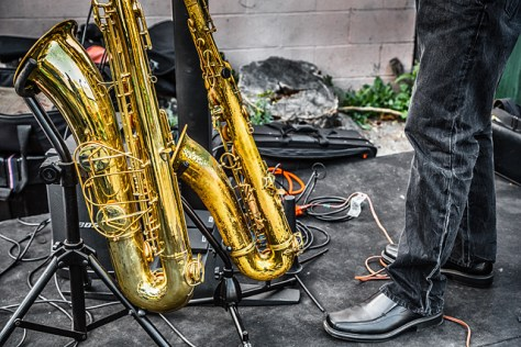 Ray's saxes and shoes