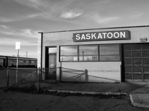 Saskatoon train station in the morning