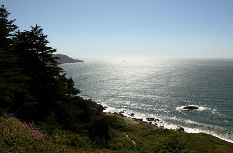 The coastal view just south of the Golden Gate Bridge