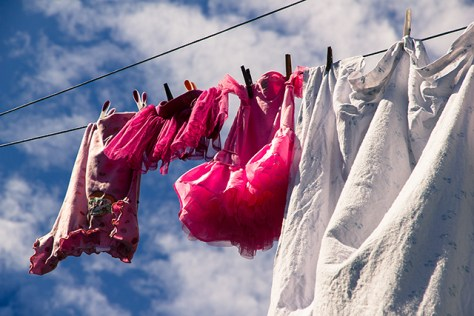 Summer clothes drying