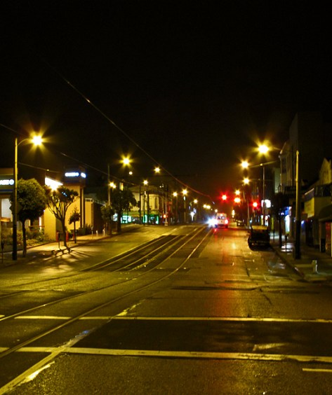 Taraval at night