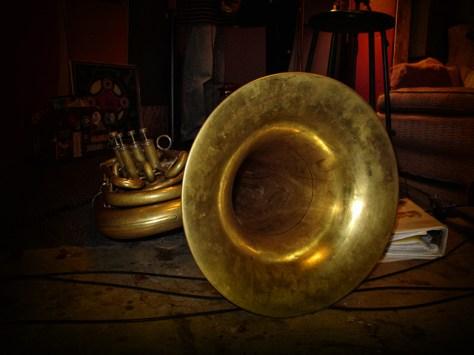 Tuba in studio