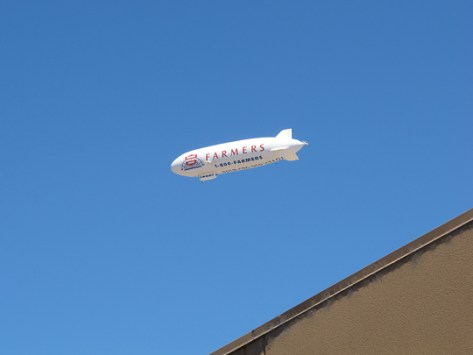 Zeppelin in flight