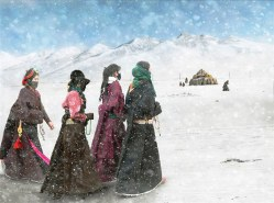 Photo by Hu Guoqing Tibetan pilgrims are on their long journey