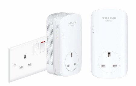 TP-Link TL-PA8010PKIT 1200 Mbps Gigabit Passthrough Powerline Starter Kit