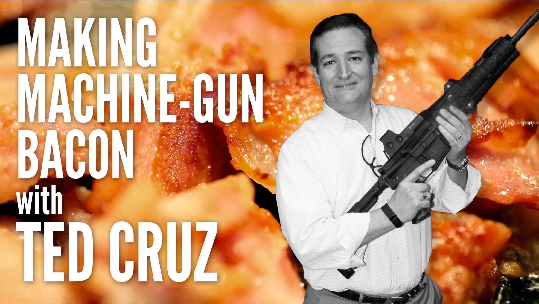 Gas-Tube: Il repubblicano Cruz frigge bacon sulla canna del mitra mentre spara