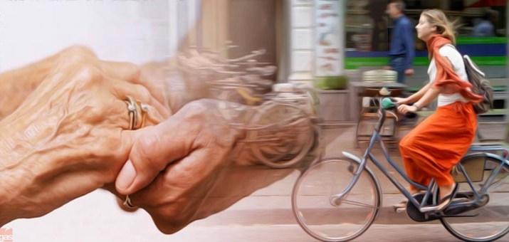 anziani bici