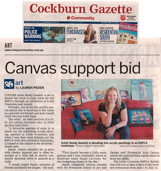 Featured in local paper Cockburn Gazette