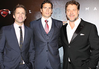 Zack_Snyder,_Henry_Cavill,_Russell_Crowe_Sydney Australia world premiere