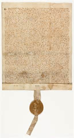Photograph of an original Magna Carta