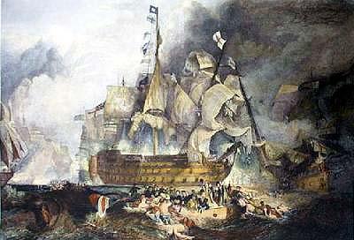 HMS Victory at Trafalgar