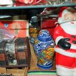 antique Santa, Christmas bubble lights