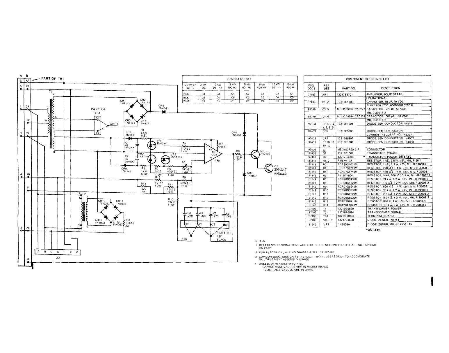 Figure Fo 5 Schematic Diagram Standard Voltage Regulator