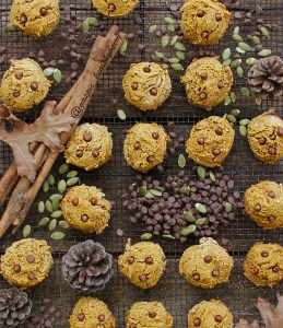 Pumpkin choco chip cookies