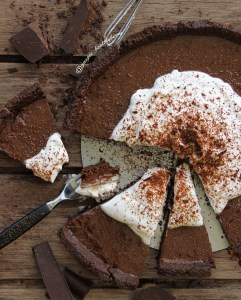 Double chocolate and cream tart