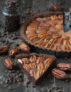 Chocolate and pecan tart