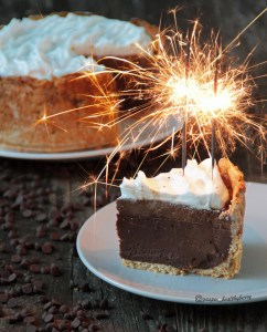Double chocolate and coconut cake