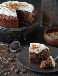 Spiced almond cake