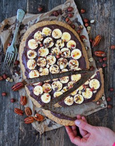 Hazelnut flourless flatbread