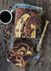 Pan de banana, chocolate, café & vainilla