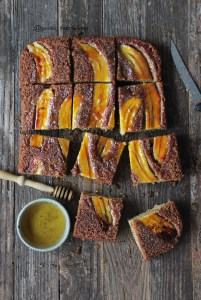Banana upside down cake with tahini