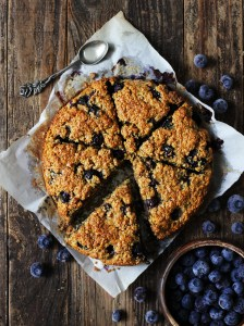 Healthy lemon and blueberry scones