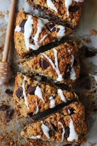 Chocolate chunk wholewheat scones
