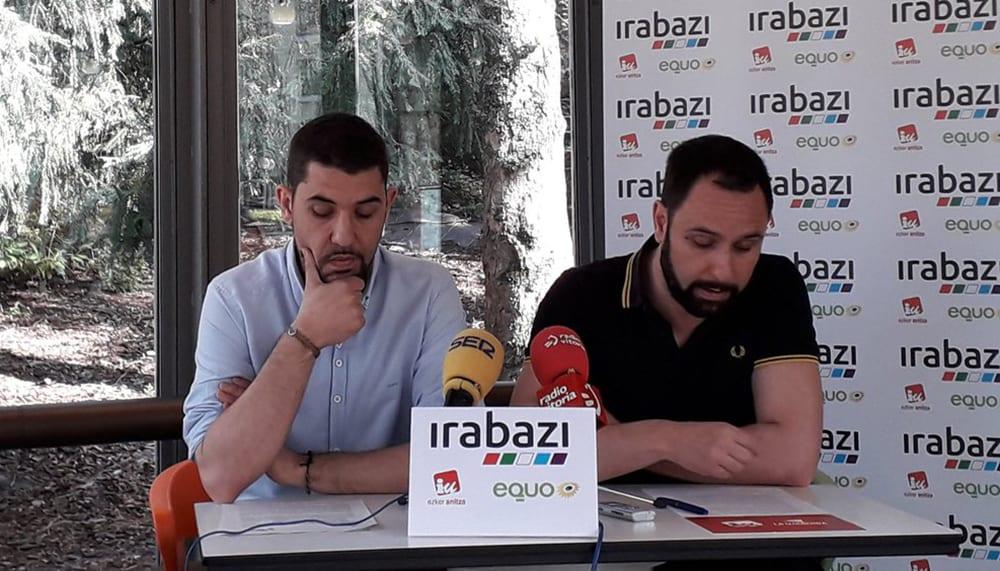 Oscar Fernández y José Damián García de Irabazi | Foto: Irabazi