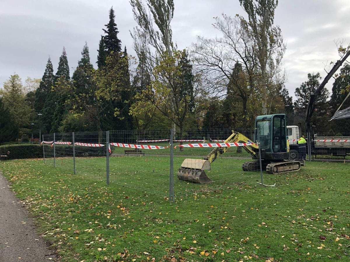 Comienzan las obras para instalar un merendero en el parque de Arriaga - GasteizBerri.com
