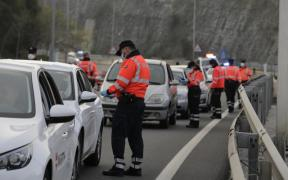 Control de confinamiento en carretera de la Ertzaintza